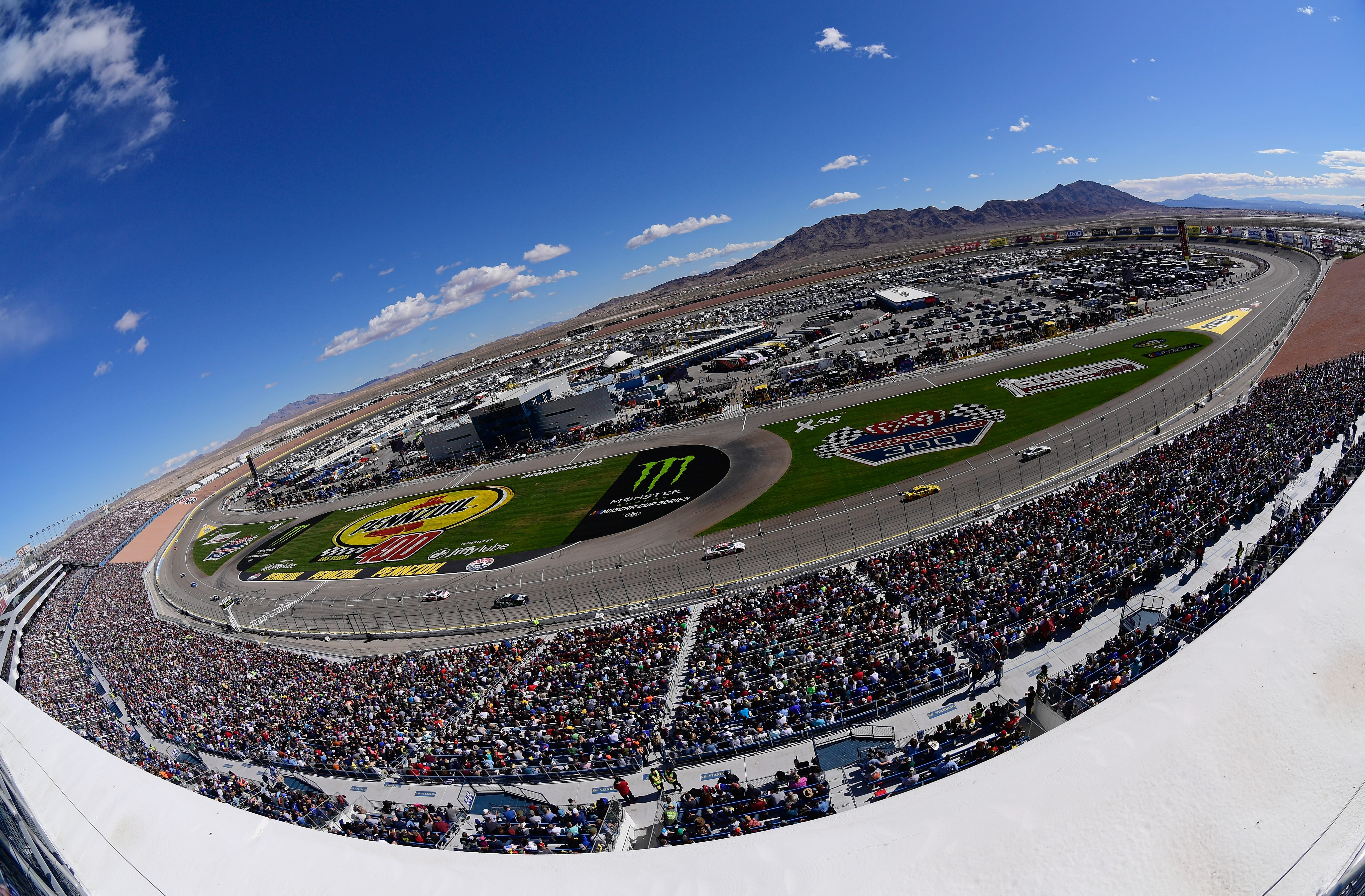 View from the track at Las Vegas Motor Speedway