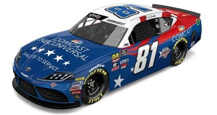 Comcast partners with Jeffrey Earnhardt for 'Salute to Service' ride at Chicagoland