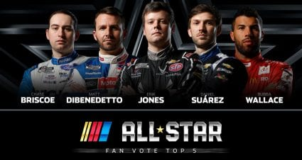 All-Star Race Fan Vote enters final days; see top five