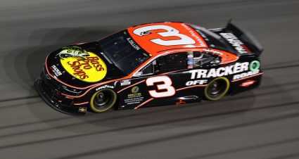 No. 3 Cup car headed to the rear for Southern 500