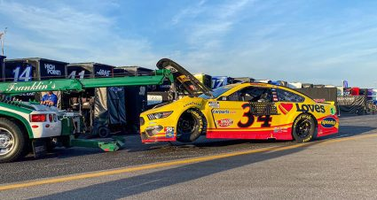 Michael McDowell sidelined by Stage 1 crash at Darlington