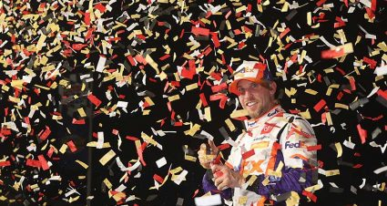 Pressure off: Denny Hamlin rides well-timed playoff surge after Vegas victory