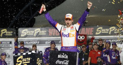 Denny Hamlin victorious in Vegas, advances in Cup Series playoffs